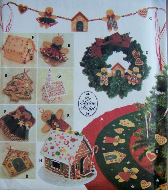 NO SEW Christmas Ornaments Decorations Patterns Uncut Tree