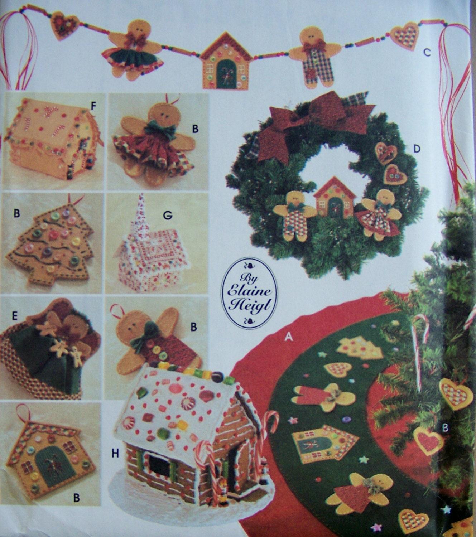 NO SEW Christmas Ornaments Decorations Patterns Uncut Tree