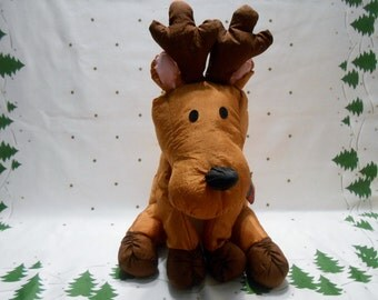 Reindeer plush parachute material puffalump type toy made by Gibson Greetings 1993