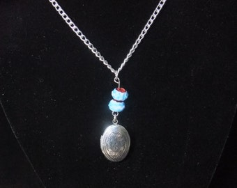 Locket with Blue Beads