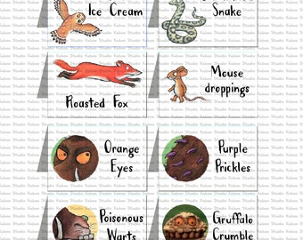 DIGITAL Gruffalo Tents - Gruffalo Birthday party - PRINT yourself - NOT being sent in the post