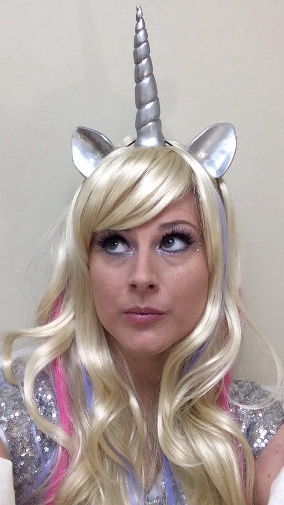 """Unicorn Horn Headband Horn and Ear Set 5"""" MLP festival cosplay costume ren fair Headband"""