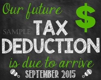 Tax Deduction Pregnancy Announcement Tax Season Pregnancy Reveal