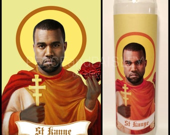 Prayer Candle, Saint, Pop Culture, Kitsch, Religious Humor, Celebrity Saint