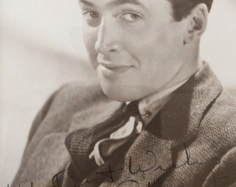 James Stewart: Black and White Signed Portrait