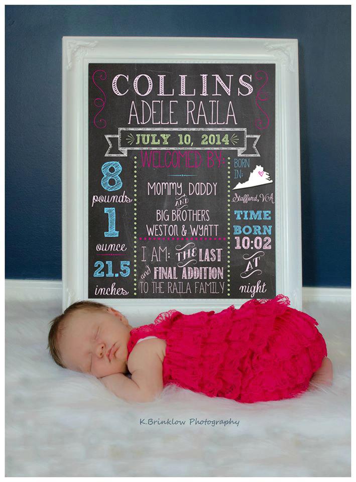 Monthly Baby Milestones Photo Prop 1 Design Chalkboard