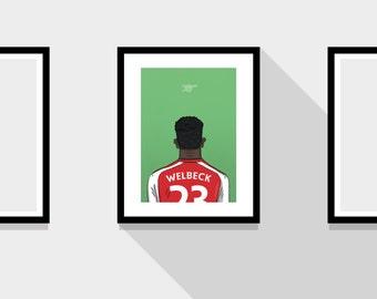 "Danny Welbeck Arsenal FC 11x14"" Football Print"