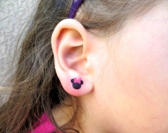 Minnie Mouse Temporary TATTOO EARRINGS