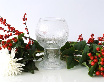 IITTALA GLASS VASE, 'Kekkerit', Large Goblet, designed by Timo Sarpaneva, Finnish Modern Design, Made in Finland, Scandinavian Scandi Decor