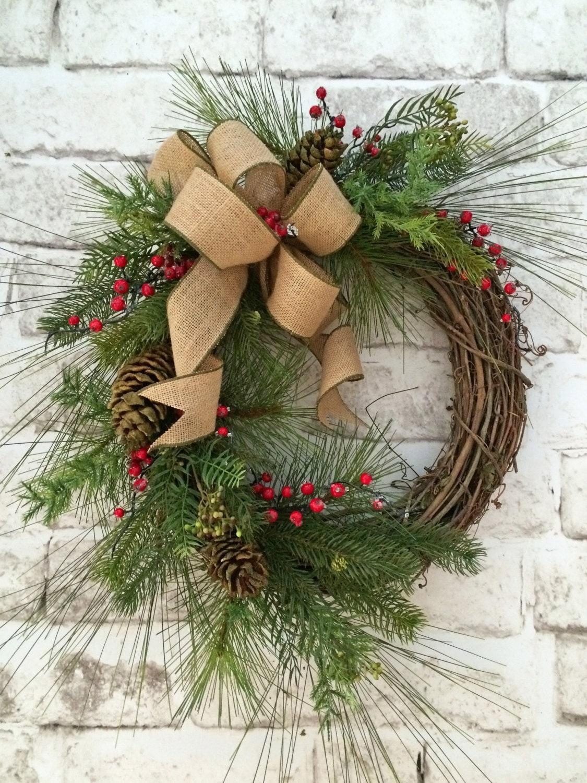 winter wreath christmas wreath for door christmas decor. Black Bedroom Furniture Sets. Home Design Ideas