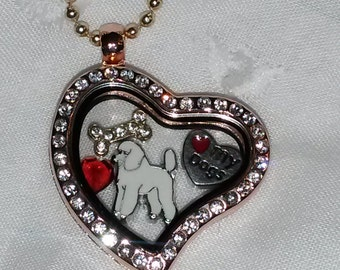 For The Love of Poodles  floating locket