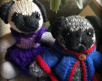 Knitting Pattern For Pug Jumper : toy pug on Etsy, a global handmade and vintage marketplace.