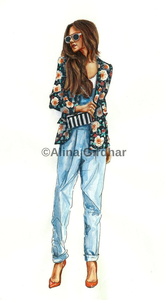 items similar to custom fashion illustration by