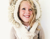 Lion Hat Hood Cowl Scarf Knit Toddler Child Adult // Leroy the Lion Hood