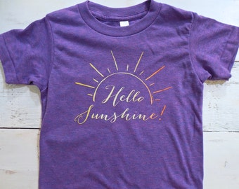 Hello sunshine ombre toddler shirt. American Apparel. You are my sunshine shirt.