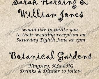 Lace Allover Wedding Invitation