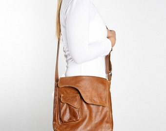 Leather iPad Sling Bag - various colours