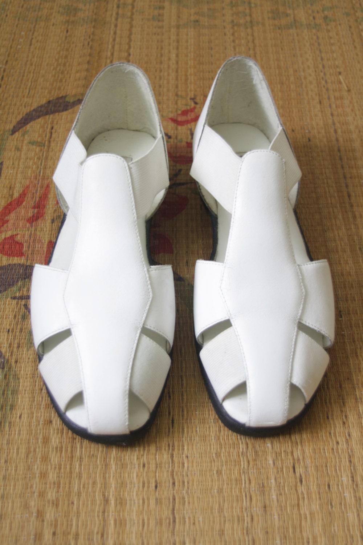 white cage shoes white summer sandals white flats white
