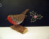 Robin wire sculpture, ornament, figurine