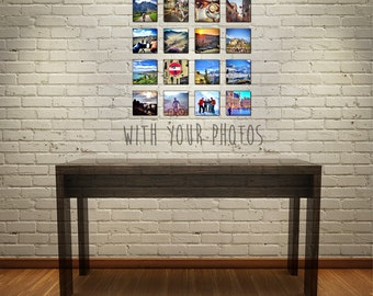 Instagram Wall Collage (16 tiles with your favorite photos!) / New Apartment / Graduation /  Christmas Gift