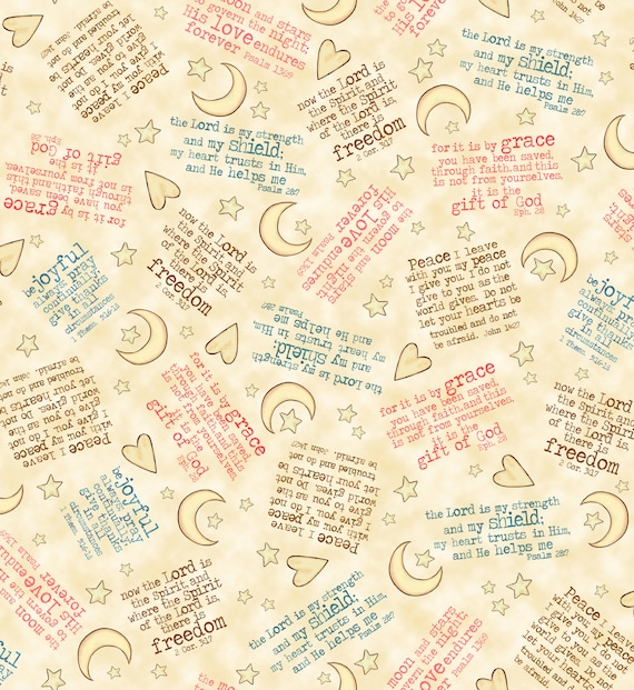 Expressions Of Faith Fabric Bible Verses By Bethany
