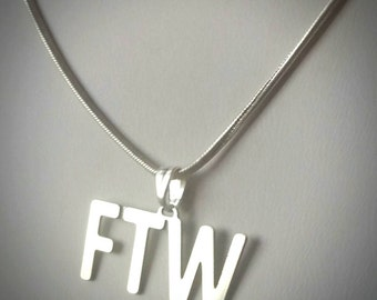 FTW Text Talk Fashion Necklace - texting abbreviation For The Win