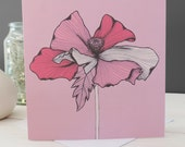 SALE: Isabella Floral Card, Greetings Card, Blank Card, Stationery, Paper Goods