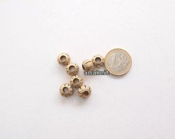 Round Stardust brass beads, 11mm, CF01634
