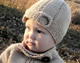 KNITTING PATTERN hat - PDF Baby Hat - Child's Hat - Girl's knit hat - Boy's knit hat