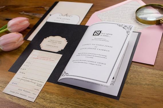 Storybook Wedding Invitation: Articoli Simili A Storybook Wedding Invitation