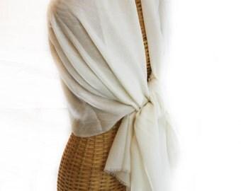Off-White Cashmere Shawl