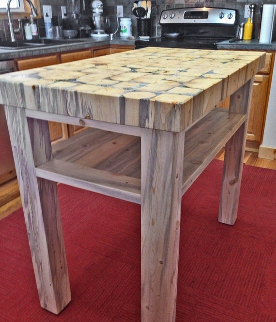 End Grain Butcher Block Kitchen Island : Butcher Block Kitchen Island 3 thick end grain blocks