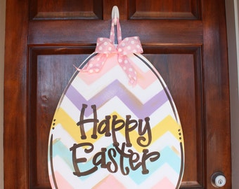 Easter Door Hanger, Easter Egg, Easter Wreath, Spring Wreath, Door Hanger