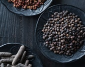Mixed Peppercorns on Black Wood, Food Photography, Photo Print, Large Wall Art, Home Decor, Restaurant Decor, Kitchen Decor, Dining Room