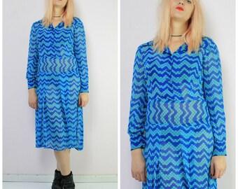 Silk Chiffon Vintage 30s Dress