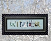 Winter ~ Counted Cross Stitch Pattern by Vicki Hastings for The Cricket Collection