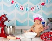 Bake! Banner - Hostess Gift - Photo prop - Kitchen Decoration - Kitchen Garland - Baking Banner - Chef's sign - Room decor - Eat in Kitche