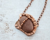 Red River Rock on Copper Necklace