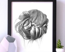 ArtPrint poster to frame Original drawing print / W 11,69 x H 16,54 inches