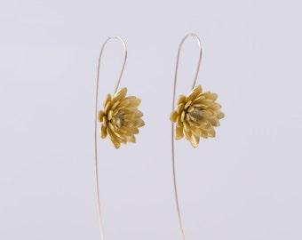 Open Lotus Botanical Earrings