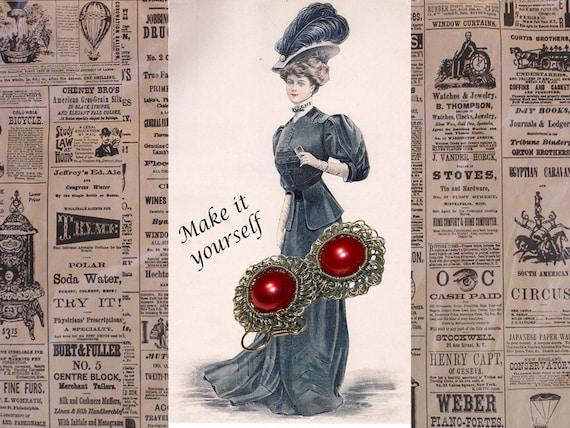 Tutorial-  Irish Crochet Wire and Yarn Flower Earrings