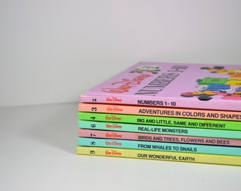Vintage Walt Disney's Fun to Learn Library set Books 2,3,4,6,7,8,9