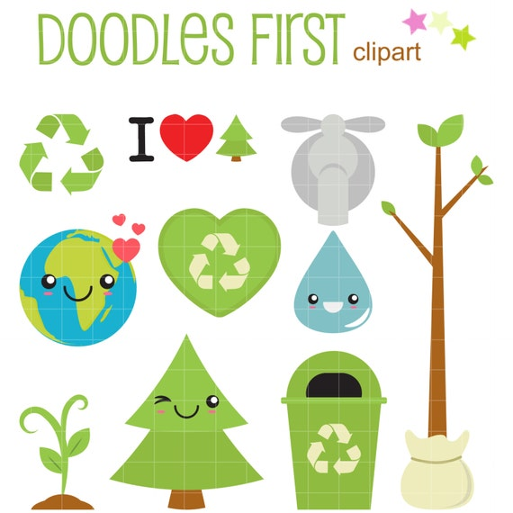 Earth Day Digital Clip Art for Scrapbooking Card Making