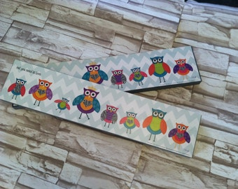 Owl you need is LOVE print on wood. Kids room decor, owl lovers sign