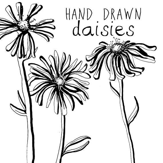 Dessin Marguerite fleur Clipart fleurs Clip Art numérique