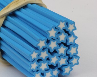 Polymer Clay 002 Nail Art Slices Star Fimo Stick Manicure Decoration Kawaii Canes
