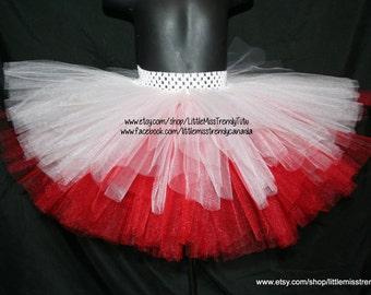 Valentine's Day Red and White Tutu,  Children's Tutu Skirts, Valentines Tutu, Red  White Valentine's day Tutu