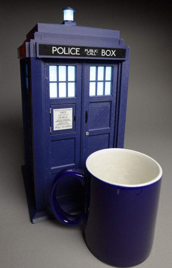 """TARDIS 11"""" Illuminated 3D Printed Kit"""