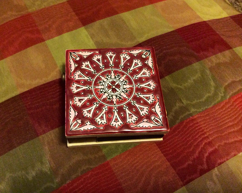 Neofitoy Keramik Greek Porcelain Tile Double Match Box with