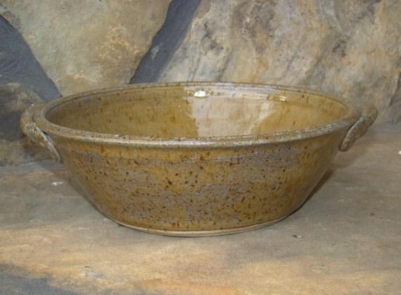 Ceramic Stoneware Baking : Pottery baking dish bowl large by highergroundpottery